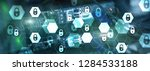 cyber security  data protection ...   Shutterstock . vector #1284533188