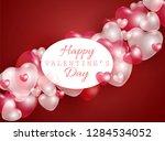 happy valentine day gift card... | Shutterstock .eps vector #1284534052