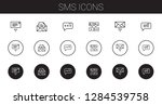 sms icons set. collection of... | Shutterstock .eps vector #1284539758