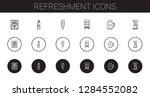 refreshment icons set.... | Shutterstock .eps vector #1284552082