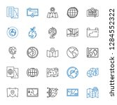 continent icons set. collection ... | Shutterstock .eps vector #1284552322