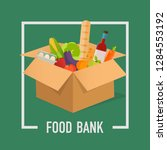 food bank simple concept... | Shutterstock .eps vector #1284553192