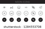 moon icons set. collection of... | Shutterstock .eps vector #1284553708