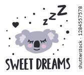 sweet dreams. hand drawn icon... | Shutterstock .eps vector #1284557578