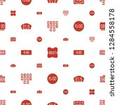 numeral icons pattern seamless...   Shutterstock .eps vector #1284558178