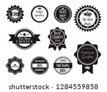 black best quality guaranteed... | Shutterstock .eps vector #1284559858