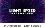 abstract light speed background.... | Shutterstock .eps vector #1284560098