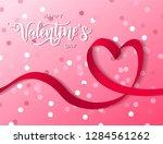 happy valentine's day hand... | Shutterstock .eps vector #1284561262