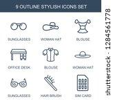 9 stylish icons. trendy stylish ... | Shutterstock .eps vector #1284561778