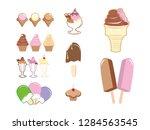 ice cream stick cone glass... | Shutterstock .eps vector #1284563545