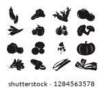 vegetable icon symbol carrot... | Shutterstock .eps vector #1284563578