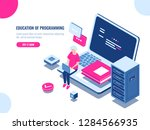 education of programming  young ...   Shutterstock .eps vector #1284566935