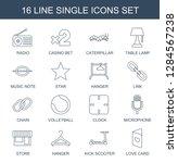 single icons. trendy 16 single... | Shutterstock .eps vector #1284567238