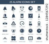 25 alarm icons. trendy alarm...   Shutterstock .eps vector #1284567292