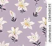 flowers design pattern with... | Shutterstock .eps vector #1284568195
