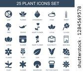 plant icons. trendy 25 plant... | Shutterstock .eps vector #1284569578