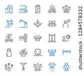 production icons set.... | Shutterstock .eps vector #1284578332
