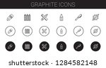 graphite icons set. collection...