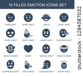 emotion icons. trendy 16... | Shutterstock .eps vector #1284587032