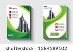 green color book cover with... | Shutterstock .eps vector #1284589102
