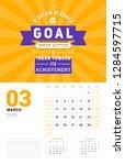 wall calendar template for... | Shutterstock .eps vector #1284597715