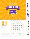 wall calendar template for... | Shutterstock .eps vector #1284597742