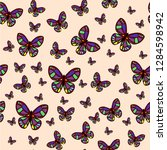 abstract seamless butterfly... | Shutterstock .eps vector #1284598942