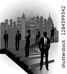 business background  business... | Shutterstock .eps vector #1284599542