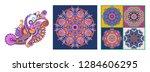 set of original hand draw line... | Shutterstock .eps vector #1284606295