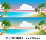 panorama of the tropical beach. ... | Shutterstock .eps vector #12846112
