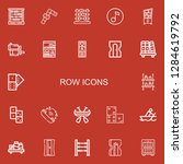 editable 22 row icons for web... | Shutterstock .eps vector #1284619792