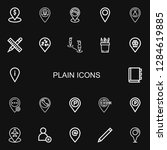editable 22 plain icons for web ...