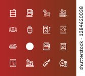 editable 16 petrol icons for... | Shutterstock .eps vector #1284620038