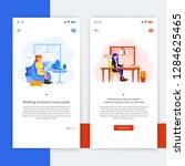 mobile app for freelancer ui... | Shutterstock .eps vector #1284625465