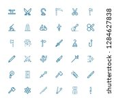 editable 36 sharp icons for web ... | Shutterstock .eps vector #1284627838