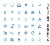 editable 36 spiritual icons for ... | Shutterstock .eps vector #1284627988