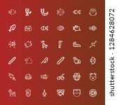editable 36 fauna icons for web ... | Shutterstock .eps vector #1284628072