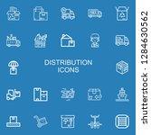editable 22 distribution icons...   Shutterstock .eps vector #1284630562