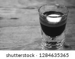 strong macchiato coffee in...   Shutterstock . vector #1284635365