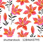 flowers ditsy design pattern... | Shutterstock .eps vector #1284643795