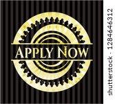 apply now golden badge or emblem   Shutterstock .eps vector #1284646312