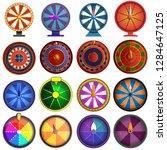roulette icon set. cartoon set... | Shutterstock . vector #1284647125