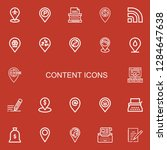editable 22 content icons for...