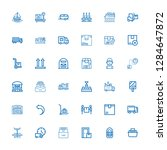 editable 36 shipping icons for... | Shutterstock .eps vector #1284647872
