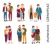 collection of cute gay and... | Shutterstock .eps vector #1284649162