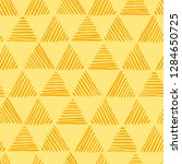 seamless hand drawn geometric... | Shutterstock .eps vector #1284650725