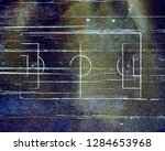 soccer field lines on old paper | Shutterstock . vector #1284653968