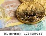 bitcoin and ukraine national...   Shutterstock . vector #1284659368