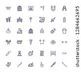 editable 36 iron icons for web... | Shutterstock .eps vector #1284662695