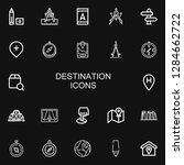 editable 22 destination icons... | Shutterstock .eps vector #1284662722